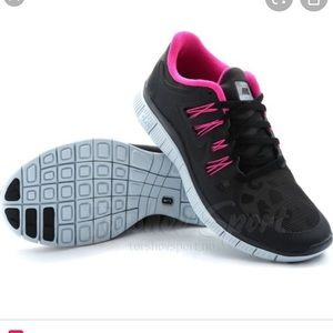 Nike Free Run 5.0 with Leopard Shield Trainers